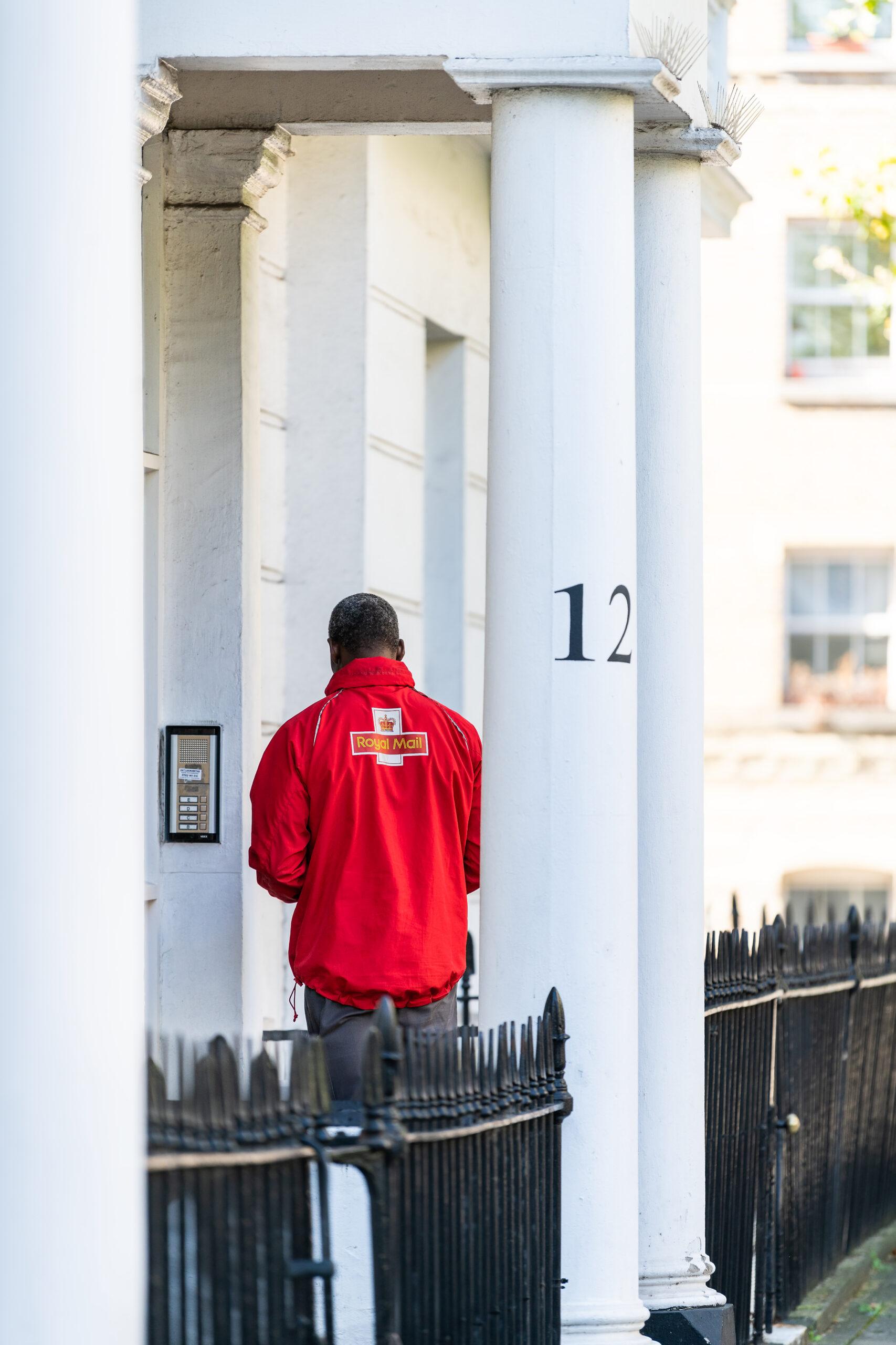 Royal Mail door to door.