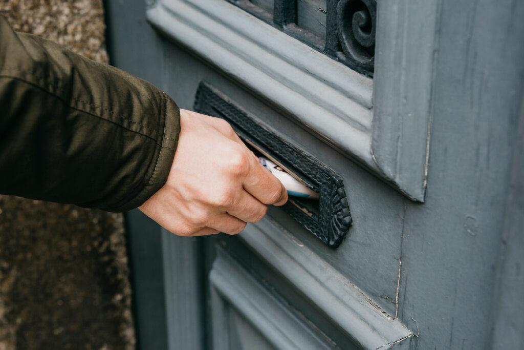 Leaflet delivery.